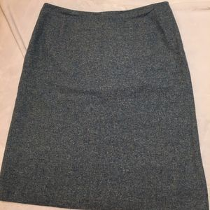 Brooks Brothers pale green/blue tweed a-line skirt
